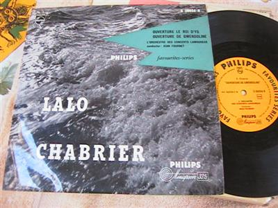 LALO CHABRIER - OVERTURES - FOURNET - PHILIPS { 186