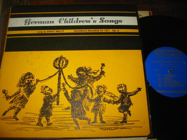 GERMAN CHILDRENS SONGS - ERNST WOLFE - FOLKWAYS