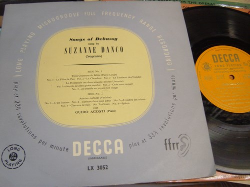 Suzanne Danco - Songs of Debussy - Decca LX.3052