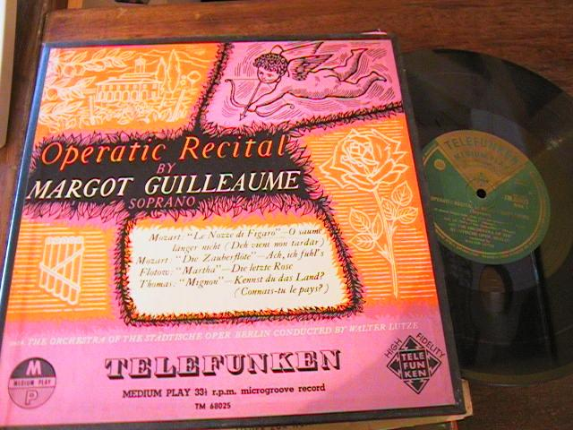 MARGOT GUILLAUME - OPERA RECITAL - TELEFUNKEN { 67