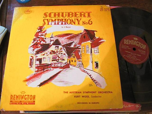 SCHUBERT - SYMPHONY No 6 - WOSS - REMMINGTON { 58