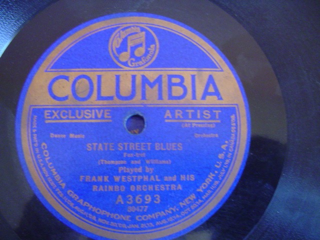 FRANK WESTPHAL - STATE STREET BLUES - COLUMBIA A 3693