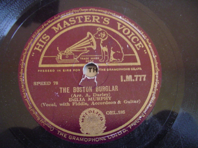 DELIA MURPHY - BOSTON BURGLAR - HMV IRISH