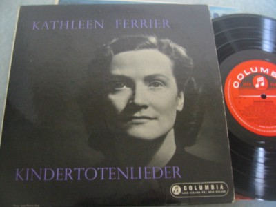 KATHLEEN FERRIER - KINDERTOTENLIEDER - COLUMBIA { 280 - Click Image to Close