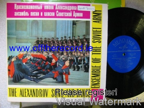 B. Alexandrov - Soviet Army Song & Dance Ensemble - Melodiya