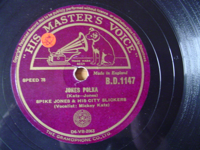 SPIKE JONES - JONES POLKA - HMV