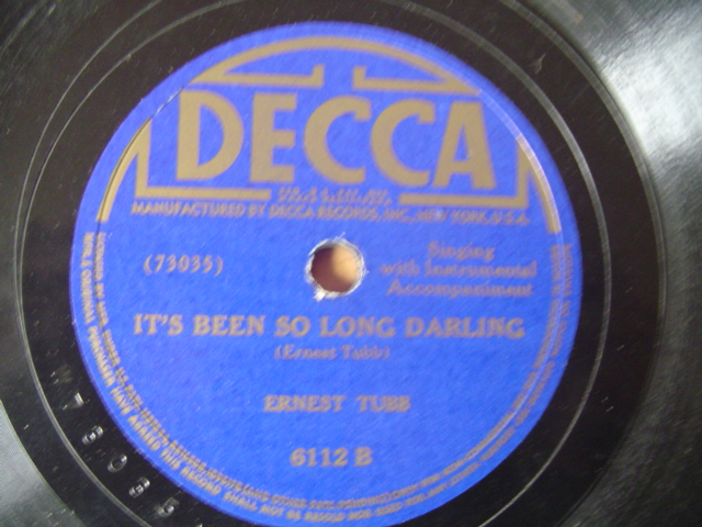 ERNEST TUBB - ITS BEEN SO LONG DARLING - DECCA