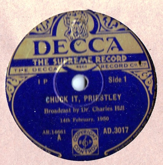 Dr. Charles Hill - Chuck it Priestly - Decca AD.3017 2 Discs