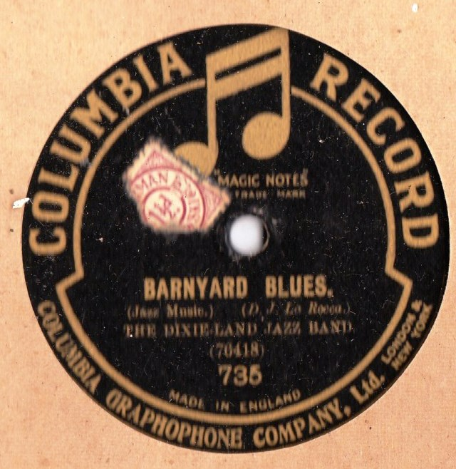 Dixieland Jazz Band - Barnyard Blues - Columbia 735