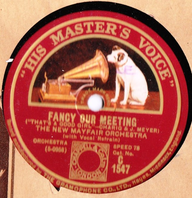New Mayfair Orchestra - Fancy our meeting - HMV C.1547