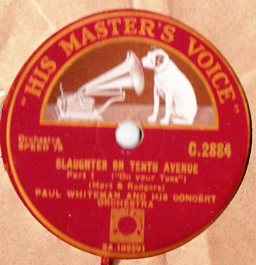 Paul Whiteman - Slaughter on Tenth Avenue - HMV C 2884 { 1 X 78
