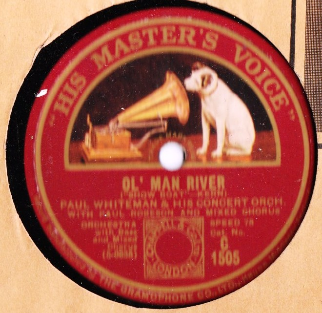 Paul Whiteman & Paul Robeson - Ol' man river - HMV C.1505