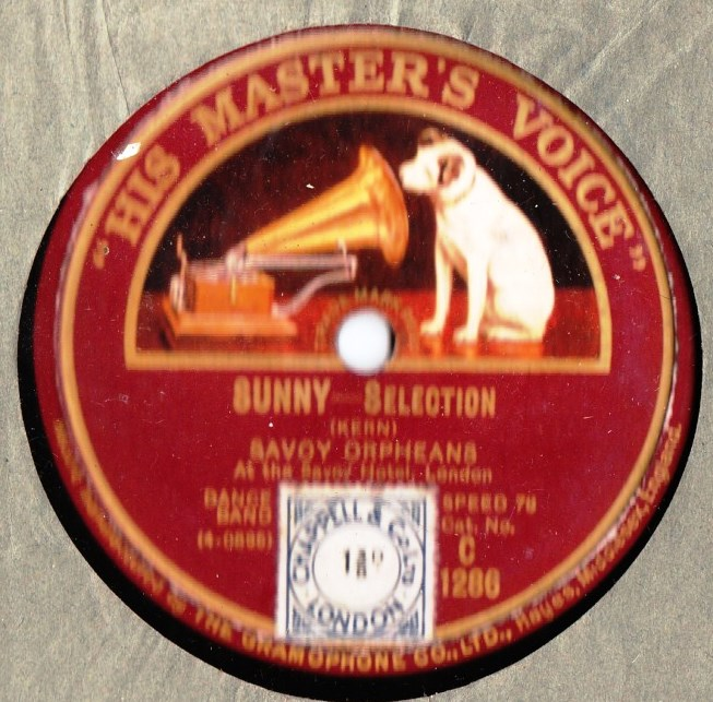 Savoy Orpheans - Sunny / Tip Toes - HMV C.1286
