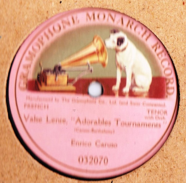 Caruso - Valse Lente - Gramophone Monarch 032070