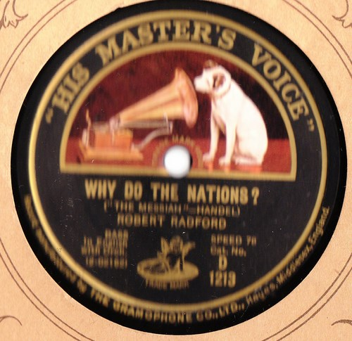 Robert Radford Bass - Why do the Nations - HMV D.1213