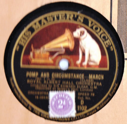 Elgar - Pomp & Circumstances March - Elgar - HMV D.1102