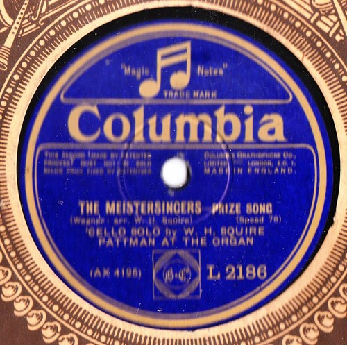 W. H. Squire Cello - The Meistersingers - Columbia L.2186
