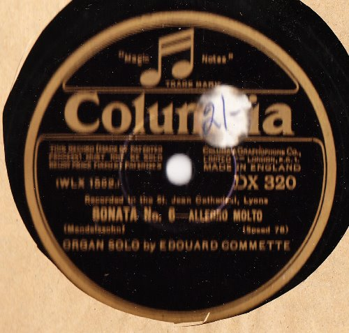 Edouard Commette Organ - Wedding March - Columbia DX.320