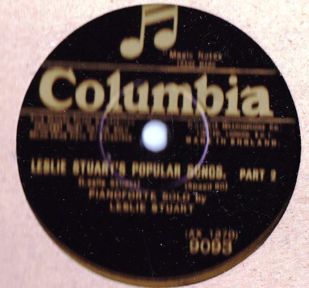 Leslie Stuart Piano - Popular Songs - Columbia 9093