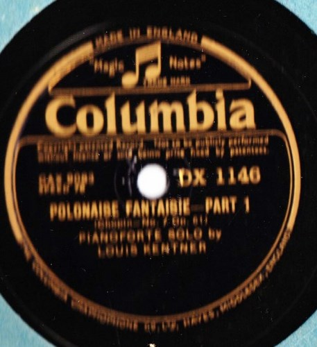 Louis Kentner - Chopin Polonaise Pt. 1 & 2 - Columbia DX.1146