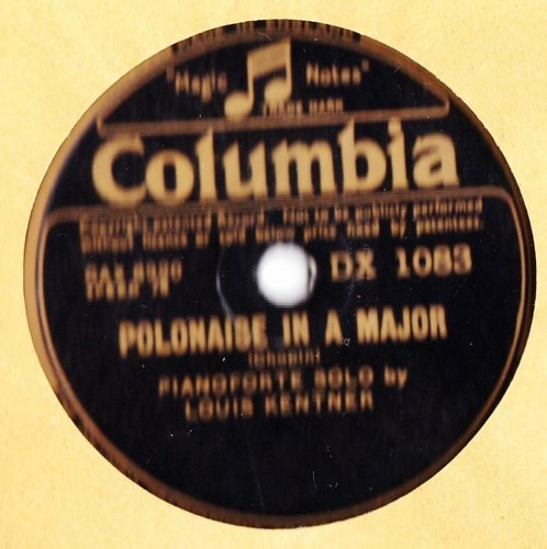Louis Kentner - Chopin Etude in C Minor - Columbia DX.1083