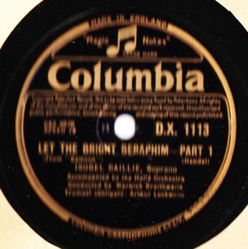 Isobel Baillie - Let the bright Seraphim - Columbia DX.1113