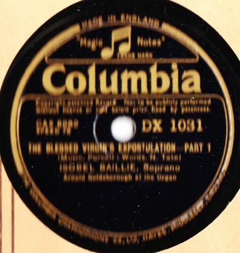 Isobel Baillie - Blessed Virgin's Expostulat - Columbia DX.1031