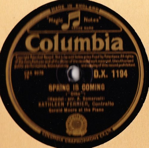 Kathleen Ferrier - Spring is coming - Columbia DX.1194