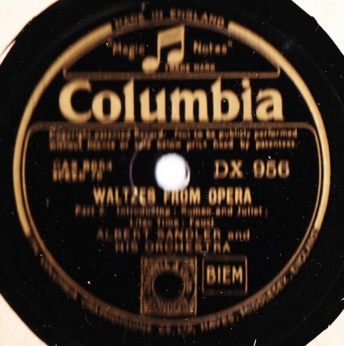 Albert Sandler - Waltzes from Opera - Columbia DX.956