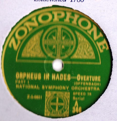 National Symphony Orchestra - Orpheus in Hades - Zonophone A.346