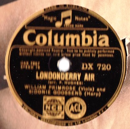 William Primrose Sidonie Goossens - Londonderry Air - Columbia