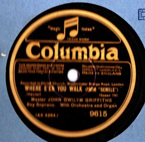 John Gwiylm Griffiths - Where e'er you walk - Columbia 9615