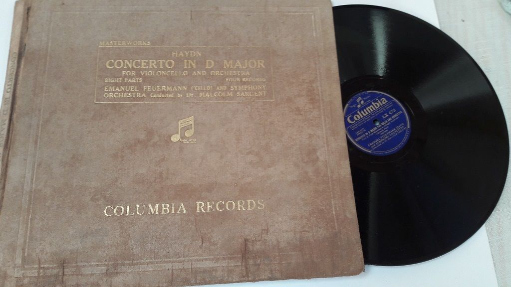 "HAYDN Concerto in D Major FEUERMANN 'Cello Columbia 4x 12"" 78"