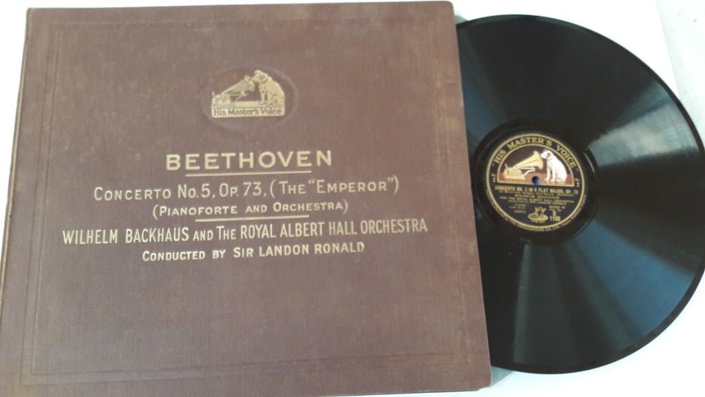 HMV D.1198/01 Beethoven Piano Concerto No.5 - W. Backhaus