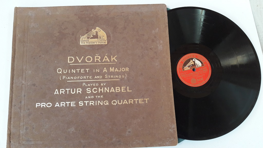 Dvorak Piano Quintet A Major - Schnabel - HMV DB2177 - 2180