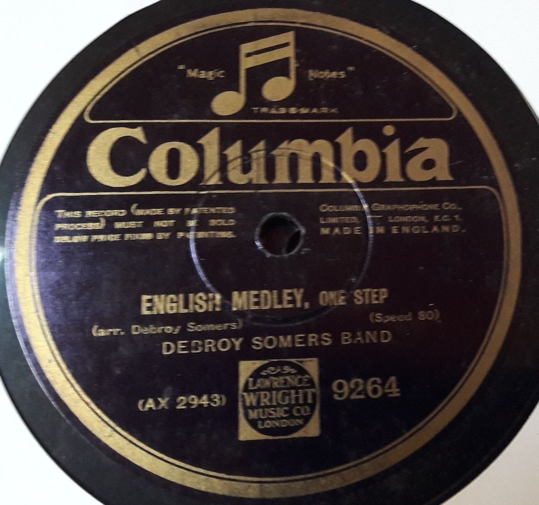 Columbia 9264 - Debroy Somers Band - English Medley / Sea Songs