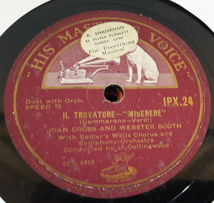 JOAN CROSS WEBSTER BOOTH VERDI - HMV IPX 24 { 204