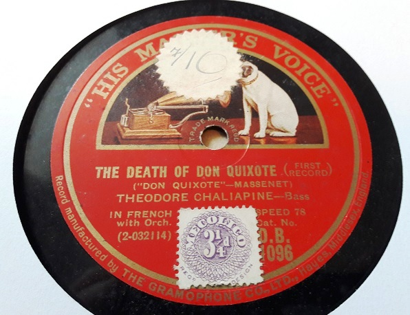 Theodore Chaliapine - Death of Don Quixote - HMV DB.1096