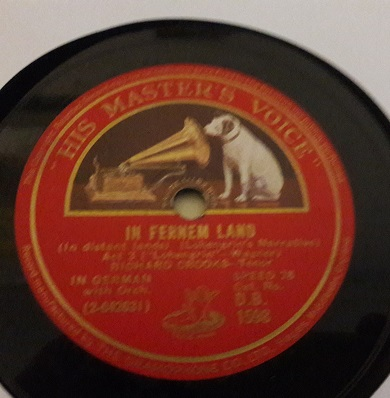 Richard Crooks - In Fernem Land - HMV DB.1598