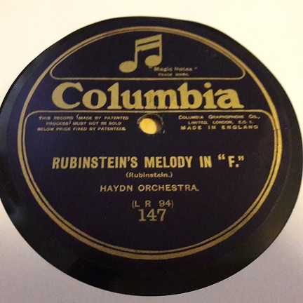 Haydn Orchestra - Rubinstein's Melody in F - Columbia 147