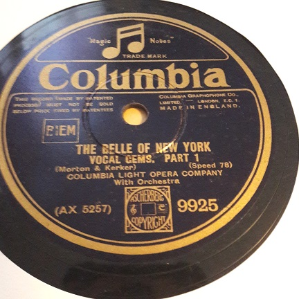 Columbia Light Opera - The Belle of New York - Columbia 9925