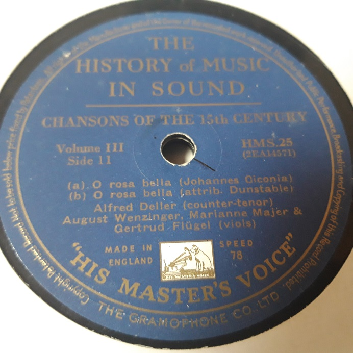 Alfred Deller - Chanson of 15th Century - HMV HMS.25