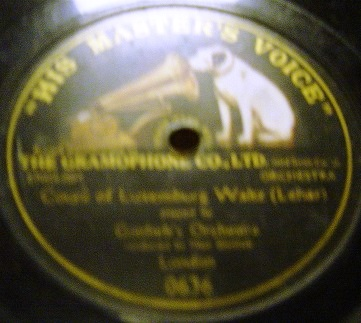 Gottlieb's Orchestra - Lehar Luxembourg - HMV 0636 1 Sided