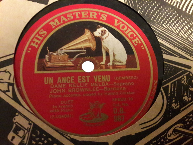 Nellie Melba & John Brownlee - Un ance est venu - HMV. DB.987 - Click Image to Close