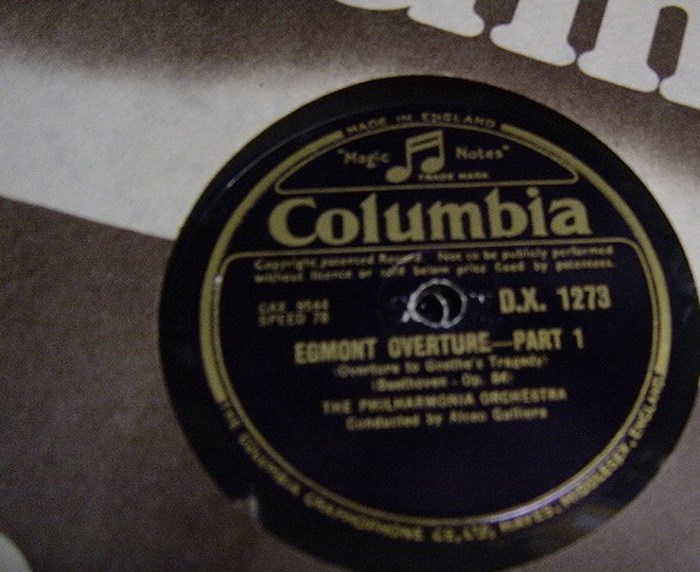 Beethoven - Egmont Overture - Alceo Galliera - Columbia DX.1273