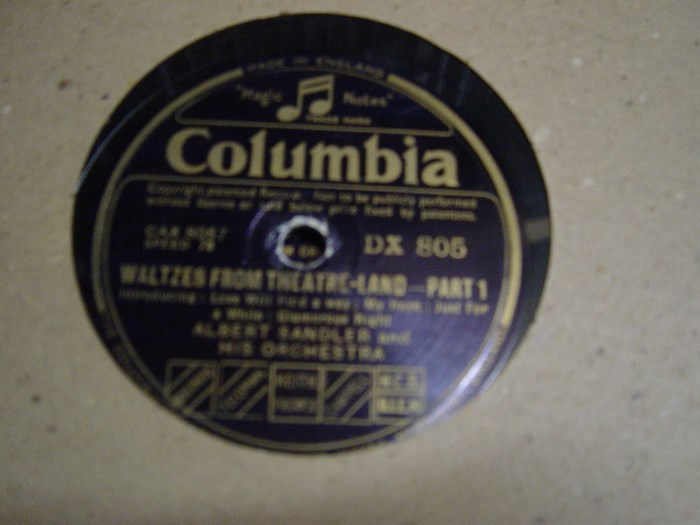 Albert Sandler - Waltzes from Theatre-Land - Columbia DX.805