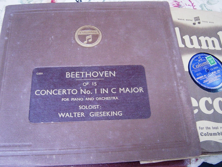 Walter Gieseking - Beethoven Piano Concerto 1 - Columbia 4 X 78
