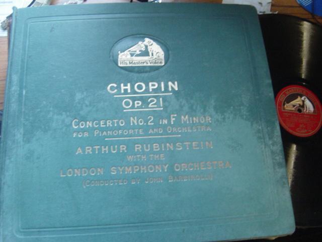 Arthur Rubinstein - Chopin Piano Concerto No 2 - HMV 4 X 78