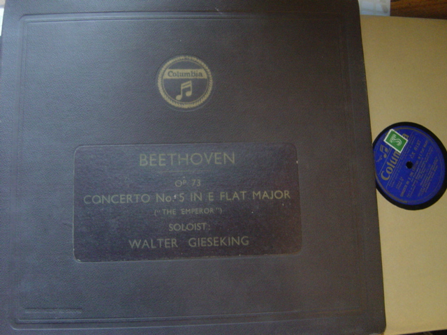 Walter Gieseking - Beethoven Piano Concerto .5 Columbia 5 X 78