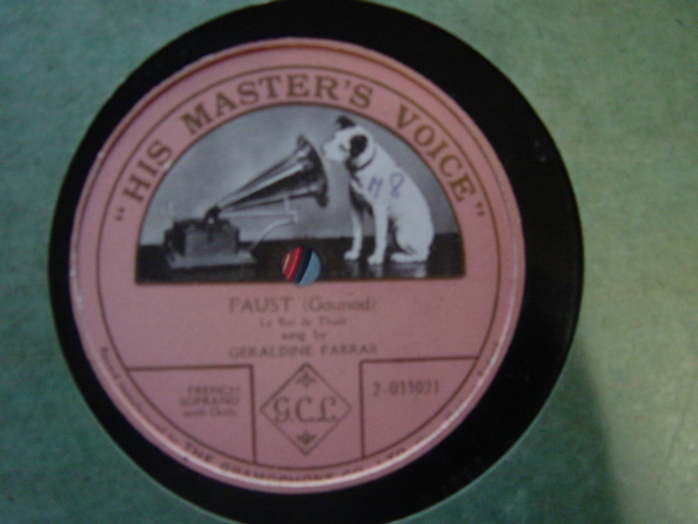 Geraldine Farrar - La Rio de Thule - HMV 2-033021 Single Sided
